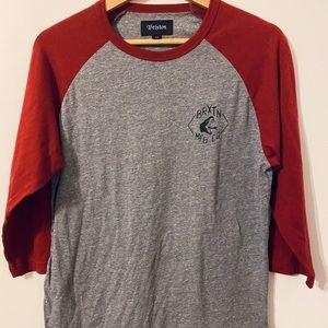 Shirts - Brixton Red Baseball Tee